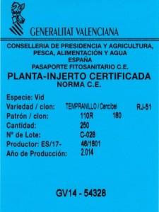 Plantas de vid certificadas